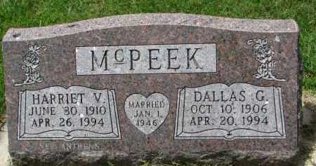 MCPEEK, HARRIET V. - Yankton County, South Dakota | HARRIET V. MCPEEK - South Dakota Gravestone Photos