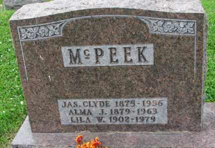 MCPEEK, ALMA J. - Yankton County, South Dakota | ALMA J. MCPEEK - South Dakota Gravestone Photos
