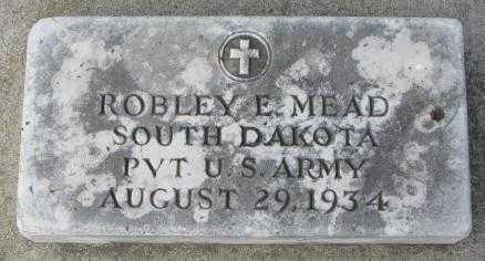 MEAD, ROBLEY E. - Yankton County, South Dakota   ROBLEY E. MEAD - South Dakota Gravestone Photos