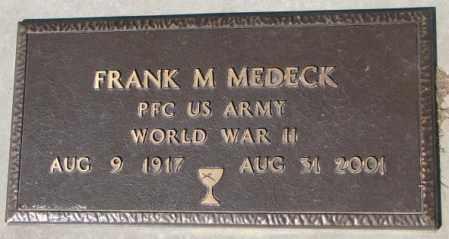 MEDECK, FRANK M. - Yankton County, South Dakota | FRANK M. MEDECK - South Dakota Gravestone Photos
