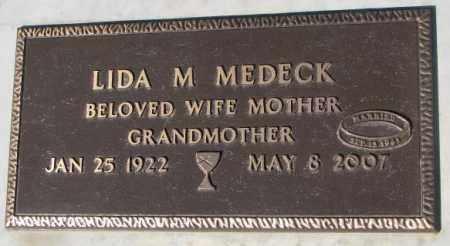 MEDECK, LIDA M. - Yankton County, South Dakota | LIDA M. MEDECK - South Dakota Gravestone Photos