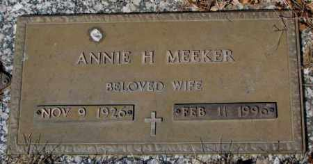 MEEKER, ANNIE H. - Yankton County, South Dakota | ANNIE H. MEEKER - South Dakota Gravestone Photos
