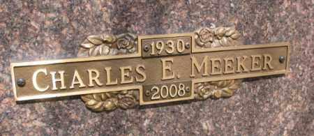 MEEKER, CHARLES E. - Yankton County, South Dakota   CHARLES E. MEEKER - South Dakota Gravestone Photos