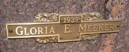 MEEKER, GLORIA E. - Yankton County, South Dakota | GLORIA E. MEEKER - South Dakota Gravestone Photos