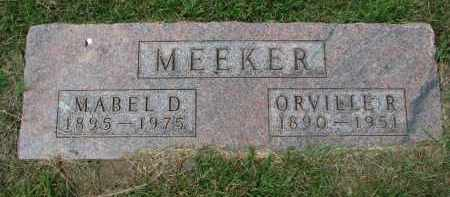 MEEKER, ORVILLE R. - Yankton County, South Dakota | ORVILLE R. MEEKER - South Dakota Gravestone Photos
