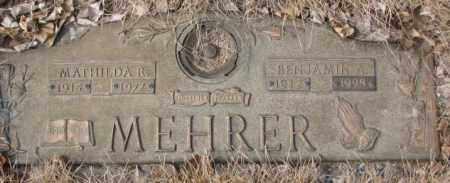 MEHRER, MATHILDA R. - Yankton County, South Dakota | MATHILDA R. MEHRER - South Dakota Gravestone Photos