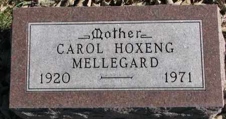 HOXENG MELLEGARD, CAROL - Yankton County, South Dakota | CAROL HOXENG MELLEGARD - South Dakota Gravestone Photos