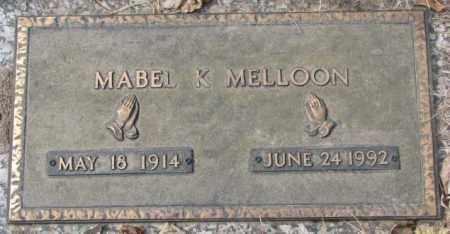 MELLOON, MABEL K. - Yankton County, South Dakota | MABEL K. MELLOON - South Dakota Gravestone Photos