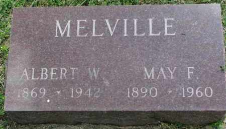 MELVILLE, ALBERT W. - Yankton County, South Dakota | ALBERT W. MELVILLE - South Dakota Gravestone Photos