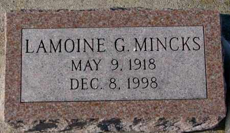 MINCKS, LAMOINE G. - Yankton County, South Dakota | LAMOINE G. MINCKS - South Dakota Gravestone Photos