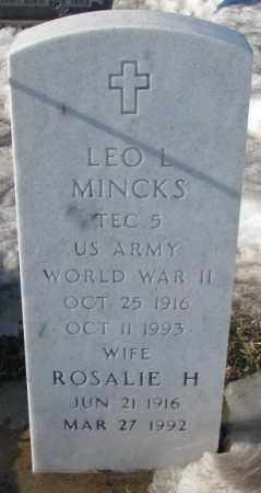 MINCKS, LEO L. (WW II ) - Yankton County, South Dakota | LEO L. (WW II ) MINCKS - South Dakota Gravestone Photos