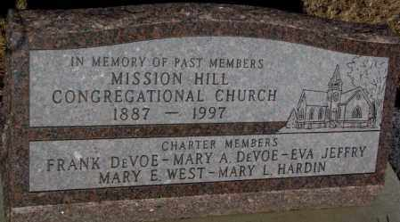 ***MISSION HILL CONGREGATIONAL, MEMORY OF PAST MEMBERS - Yankton County, South Dakota | MEMORY OF PAST MEMBERS ***MISSION HILL CONGREGATIONAL - South Dakota Gravestone Photos
