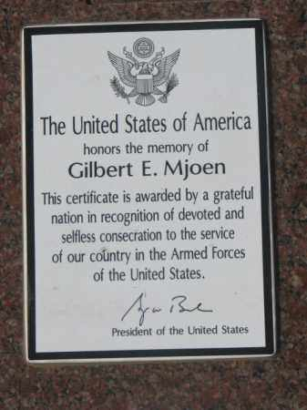 MJOEN, GILBERT E. (MILITARY AWARD) - Yankton County, South Dakota | GILBERT E. (MILITARY AWARD) MJOEN - South Dakota Gravestone Photos