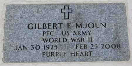 MJOEN, GILBERT E. (WW II) - Yankton County, South Dakota | GILBERT E. (WW II) MJOEN - South Dakota Gravestone Photos
