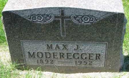 MODEREGGER, MAX J. - Yankton County, South Dakota   MAX J. MODEREGGER - South Dakota Gravestone Photos