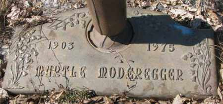 MODEREGGER, MYRTLE - Yankton County, South Dakota | MYRTLE MODEREGGER - South Dakota Gravestone Photos
