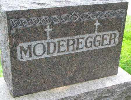 MODEREGGER, PLOT - Yankton County, South Dakota   PLOT MODEREGGER - South Dakota Gravestone Photos