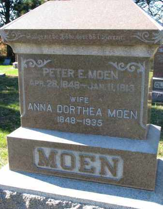 MOEN, PETER E. - Yankton County, South Dakota | PETER E. MOEN - South Dakota Gravestone Photos