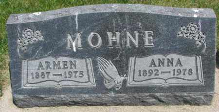 MOHNE, ANNA - Yankton County, South Dakota | ANNA MOHNE - South Dakota Gravestone Photos