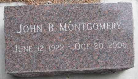 MONTGOMERY, JOHN B. - Yankton County, South Dakota | JOHN B. MONTGOMERY - South Dakota Gravestone Photos