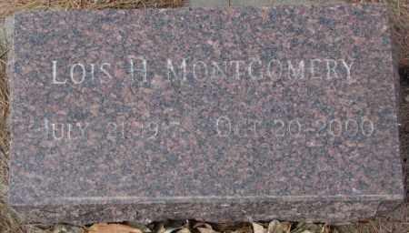 MONTGOMERY, LOIS H. - Yankton County, South Dakota | LOIS H. MONTGOMERY - South Dakota Gravestone Photos