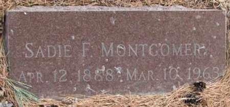 MONTGOMERY, SADIE F. - Yankton County, South Dakota | SADIE F. MONTGOMERY - South Dakota Gravestone Photos