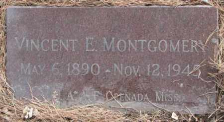 MONTGOMERY, VINCENT E. - Yankton County, South Dakota   VINCENT E. MONTGOMERY - South Dakota Gravestone Photos