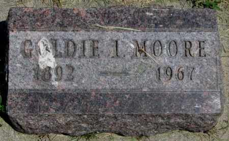 MOORE, GOLDIE I. - Yankton County, South Dakota | GOLDIE I. MOORE - South Dakota Gravestone Photos
