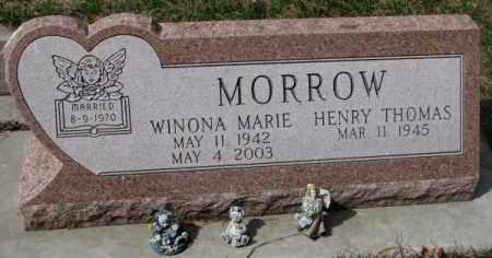 MORROW, WINONA MARIE - Yankton County, South Dakota | WINONA MARIE MORROW - South Dakota Gravestone Photos