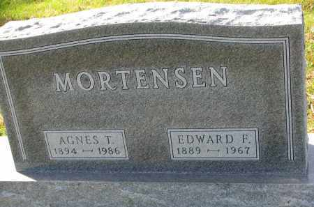 MORTENSEN, EDWARD F. - Yankton County, South Dakota | EDWARD F. MORTENSEN - South Dakota Gravestone Photos