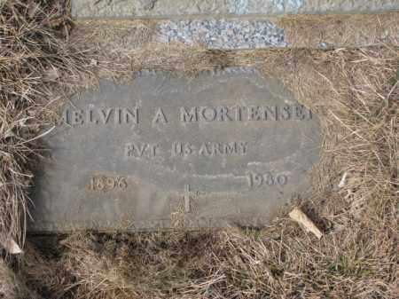 MORTENSEN, MELVIN A. (MILITARY) - Yankton County, South Dakota   MELVIN A. (MILITARY) MORTENSEN - South Dakota Gravestone Photos