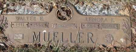 MUELLER, WALTER E. - Yankton County, South Dakota | WALTER E. MUELLER - South Dakota Gravestone Photos