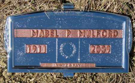 MULFORD, MABEL P. - Yankton County, South Dakota | MABEL P. MULFORD - South Dakota Gravestone Photos