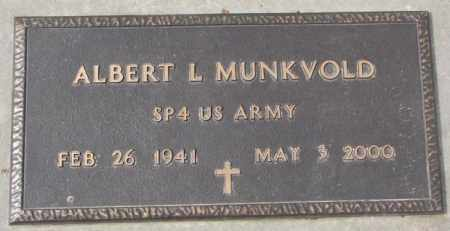 MUNKVOLD, ALBERT L. (MILITARY) - Yankton County, South Dakota | ALBERT L. (MILITARY) MUNKVOLD - South Dakota Gravestone Photos