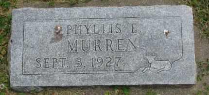 MURREN, PHYLLIS E. - Yankton County, South Dakota | PHYLLIS E. MURREN - South Dakota Gravestone Photos