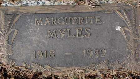 MYLES, MARGUERITE - Yankton County, South Dakota   MARGUERITE MYLES - South Dakota Gravestone Photos