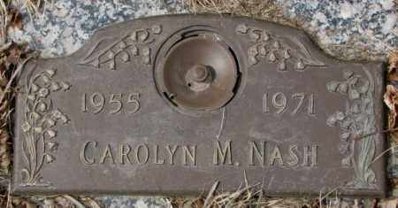 NASH, CAROLYN M. - Yankton County, South Dakota | CAROLYN M. NASH - South Dakota Gravestone Photos
