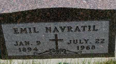 NAVRATIL, EMIL - Yankton County, South Dakota | EMIL NAVRATIL - South Dakota Gravestone Photos