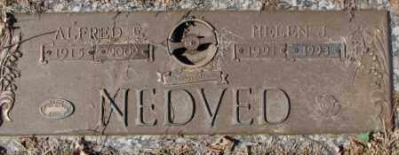 NEDVED, ALFRIED E. - Yankton County, South Dakota | ALFRIED E. NEDVED - South Dakota Gravestone Photos
