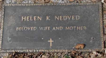 NEDVED, HELEN K. - Yankton County, South Dakota   HELEN K. NEDVED - South Dakota Gravestone Photos