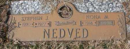 NEDVED, STEPHEN J. - Yankton County, South Dakota | STEPHEN J. NEDVED - South Dakota Gravestone Photos