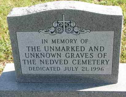 *NEDVED, UNKNOWNS - Yankton County, South Dakota   UNKNOWNS *NEDVED - South Dakota Gravestone Photos