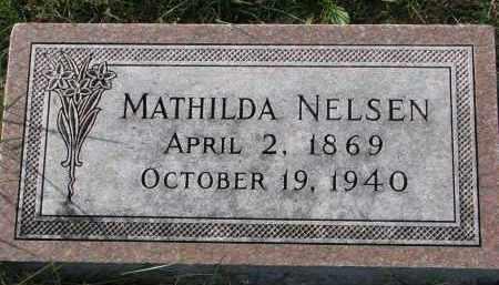 NELSEN, MATHILDA - Yankton County, South Dakota | MATHILDA NELSEN - South Dakota Gravestone Photos