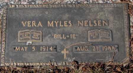 MYLES NELSEN, VERA - Yankton County, South Dakota   VERA MYLES NELSEN - South Dakota Gravestone Photos