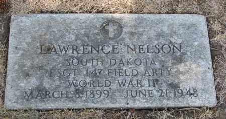 NELSON, LAWRENCE (WW II) - Yankton County, South Dakota   LAWRENCE (WW II) NELSON - South Dakota Gravestone Photos