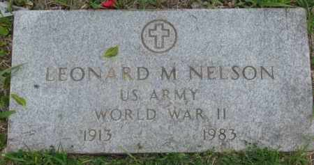 NELSON, LEONARD M. - Yankton County, South Dakota | LEONARD M. NELSON - South Dakota Gravestone Photos