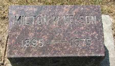 NELSON, MILTON W. - Yankton County, South Dakota | MILTON W. NELSON - South Dakota Gravestone Photos