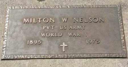 NELSON, MILTON W. (WW I) - Yankton County, South Dakota | MILTON W. (WW I) NELSON - South Dakota Gravestone Photos