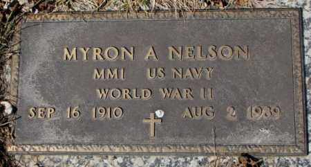 NELSON, MYRON A. (WW II) - Yankton County, South Dakota   MYRON A. (WW II) NELSON - South Dakota Gravestone Photos
