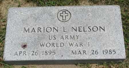 NELSON, MARION L. (WW I) - Yankton County, South Dakota   MARION L. (WW I) NELSON - South Dakota Gravestone Photos